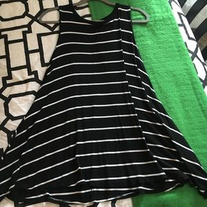 Black striped T-shirt dress!